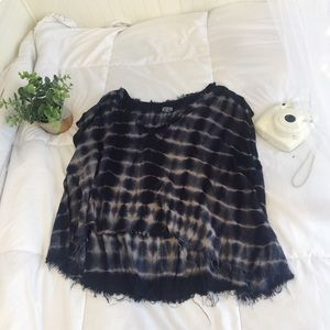 Urban Outfitters tie dye blue top